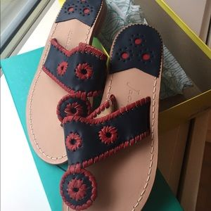 NWT Jack Rogers navy / red custom sandal size 6.5